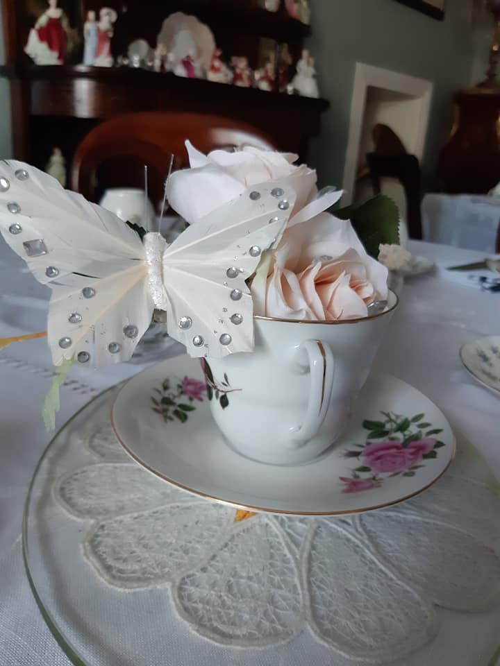 Elegant tea cup on a table here in the Old Rectory Trim where you can enjoy unique night out with friends
