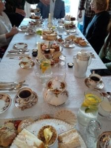 Group enjoying afternoon tea at a party here in our tearooms trim co meath