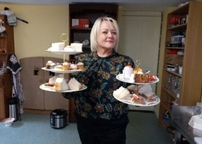 Emer McNally serving Afternoon Tea Platters - Old Rectory Trim Meath Tearooms