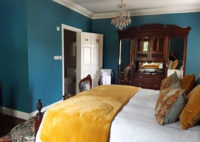 Ensuite large double bed room luxury stay Ireland boutique hotel band b