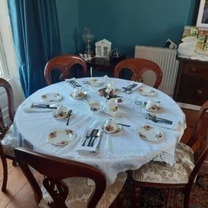 afternoon tea and teaparties table set with bone china old rectory trim meath