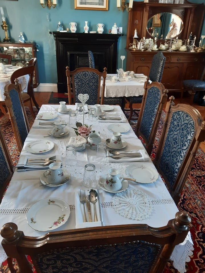 dining table at the old rectory trim for night out or bed and breakfast dinner parties