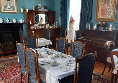 vintage tearoom for events and parties and fine dining