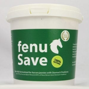 Fenusave award winning horse feed to help with stomach issues and ulcers