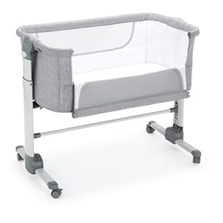 Baby cot for sleeping at the side of bed - Connie Leonard furniture and flooring