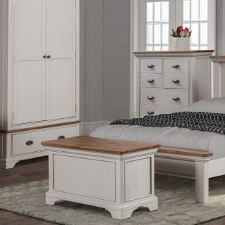 End of bed storage - Connie Leonard furniture and flooring