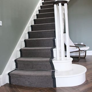 Stairs carpet runner for modern home - Connie Leonard furniture and flooring