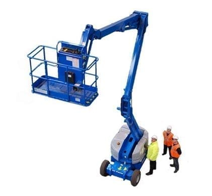 MEWP training course blue mobile elevated work platform