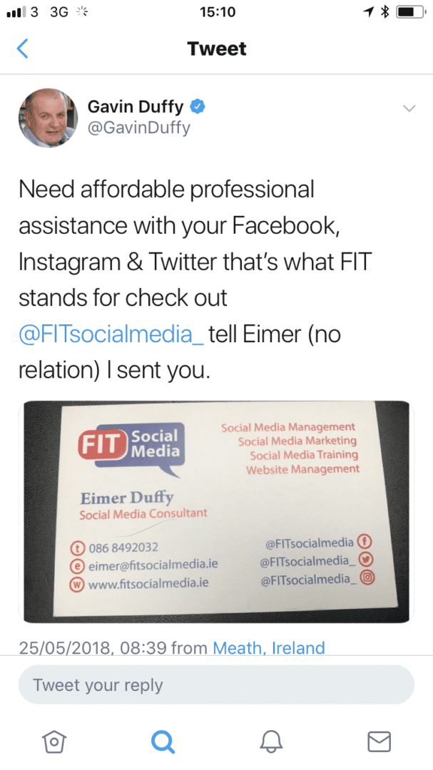 Twitter recommendation for FIT Social Media