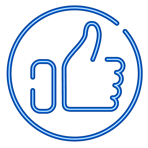 Reviews FIT Social Media Facebook Like Thumbs Up in Neon Sign