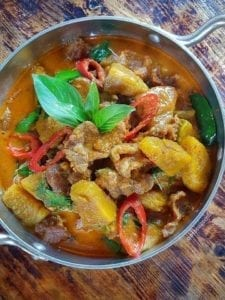 beef red curry once upon a thai trim meath takeaway thai food