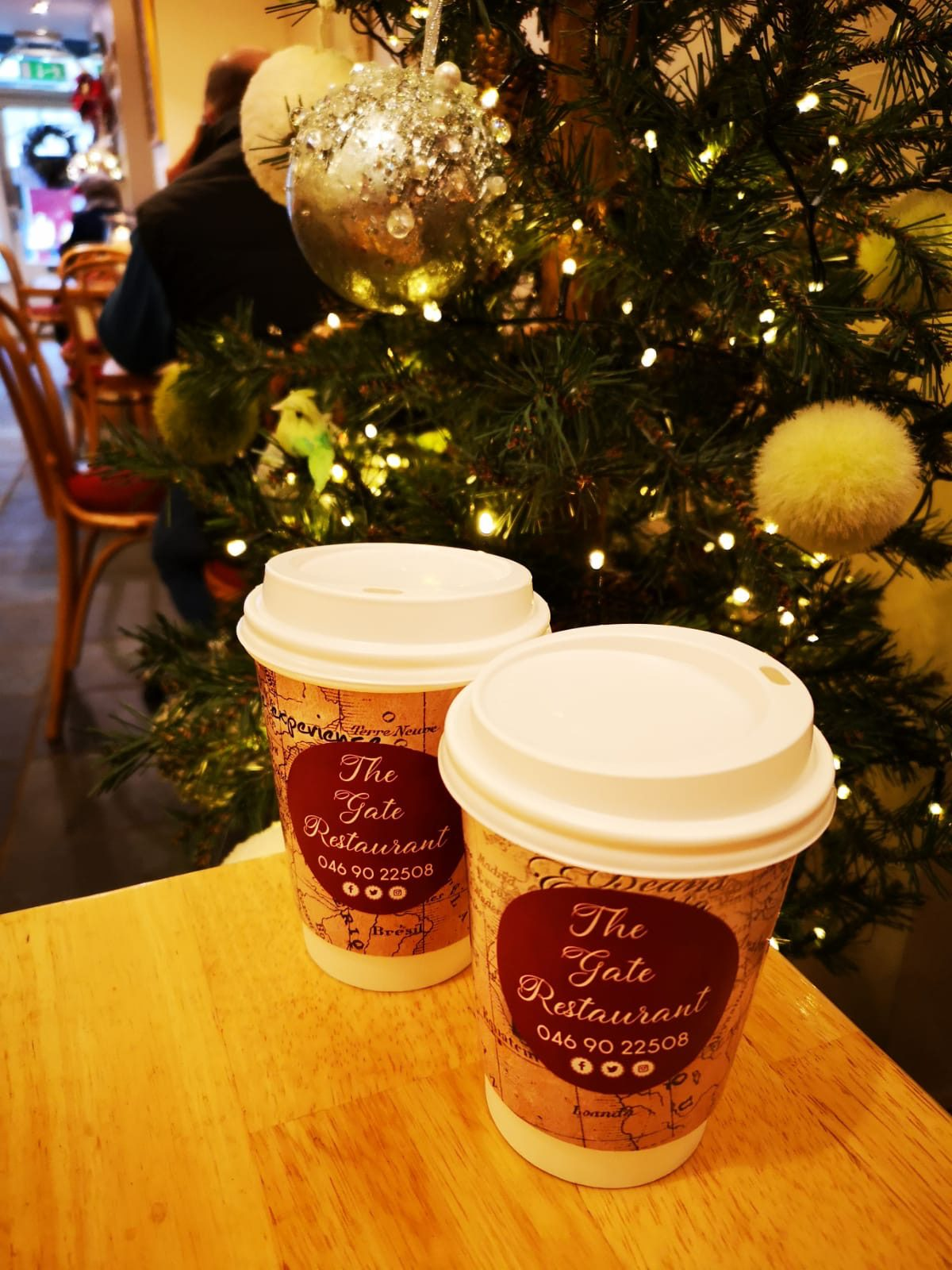 coffee at Christmas the gate restaurant and cafe
