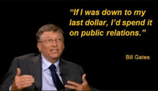 bill gates quote PR
