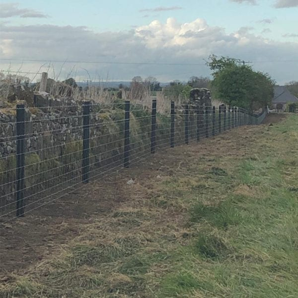 Plastic Fence Posts Installed in a field farm ireland NGP