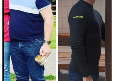 transformation picture ant morgan before and after fitness diet and exercise