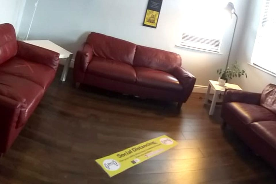 red sofas The LOFT Cabra help for young people Subtance and alcohol misuse