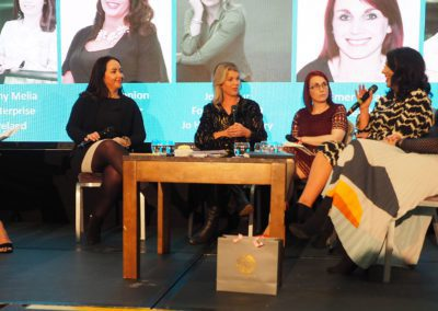 women on panel at event NOW media