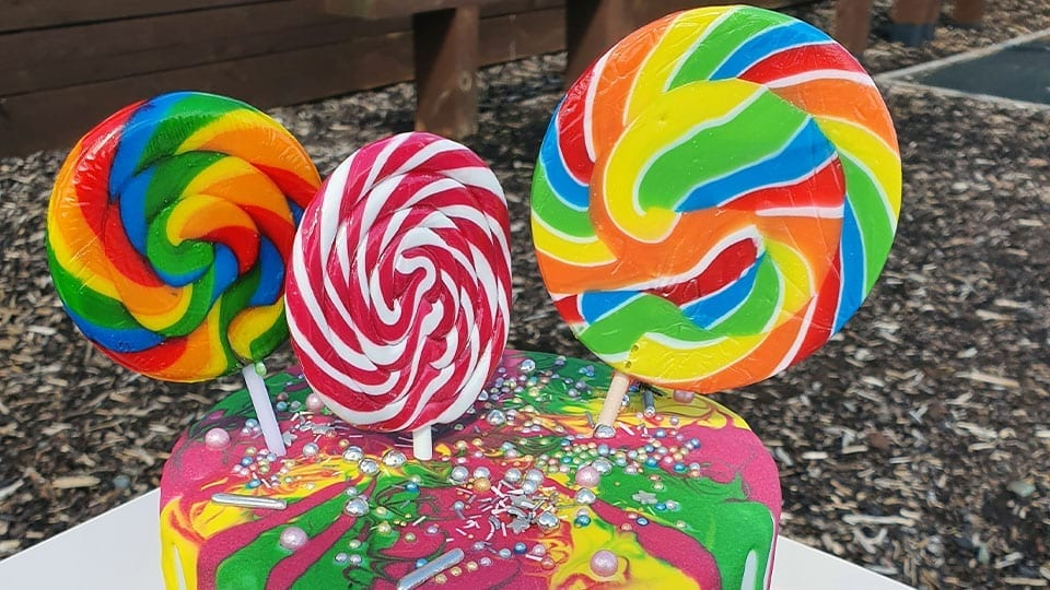 Lollies Cake Celebration Birthday Parties at Mellowes Adventure Centre Athboy