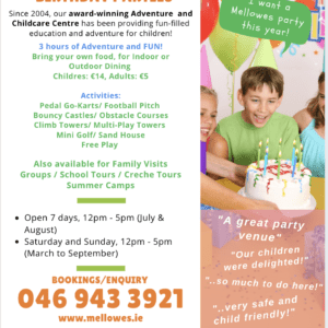 Mellowes Birthday Parties Adventure Centre Meath