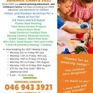 Summer Camp Mellowes Adventure Centre Meath and Westmeath