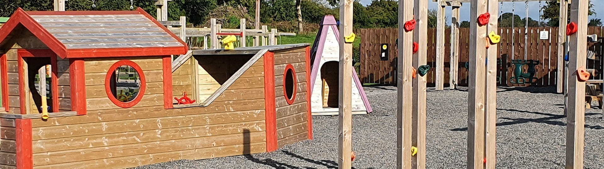 Banner Wooden boat climbing frame playground Mellowes Adventure Centre and Childcare serving Meath and Westmeath