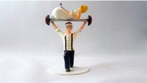 wedding cake topper 3d printed bride and groom fitness funny