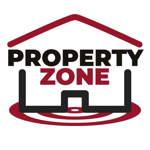 Website design for local property company Property Zone Logo