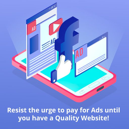 advertising on facebook google and youtube does not work without a good website